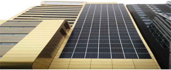 기존의 일반 태양광 패널을 사용한 BIPV 설치의 예 / 사진제공=옥토끼이미징